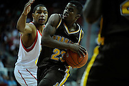 13 MAR 2009:  University of Wyoming takes on University of Utah during the Mountain West Conference Men's Basketball Tournament held at the Thomas & Mack Center in Las Vegas, NV.  Brett Wilhelm/NCAA Photos
