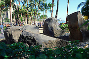 Wizard stones, Waikiki, Oahu, Hawaii<br />