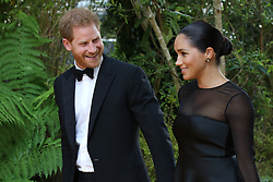 The Duke of Sussex and Duchess of Sussex arrive at the London premiere of the Lion King.<br />
