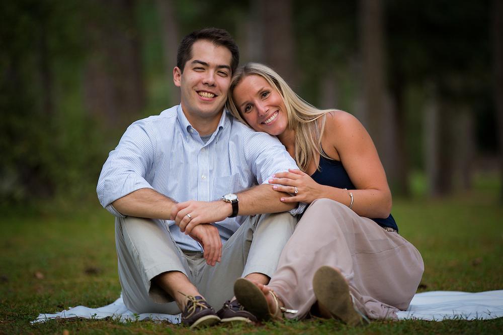 Akira and Jaime Yamamoto pose for romantic, loving photos at Westside Park in Gainesville, Florida.