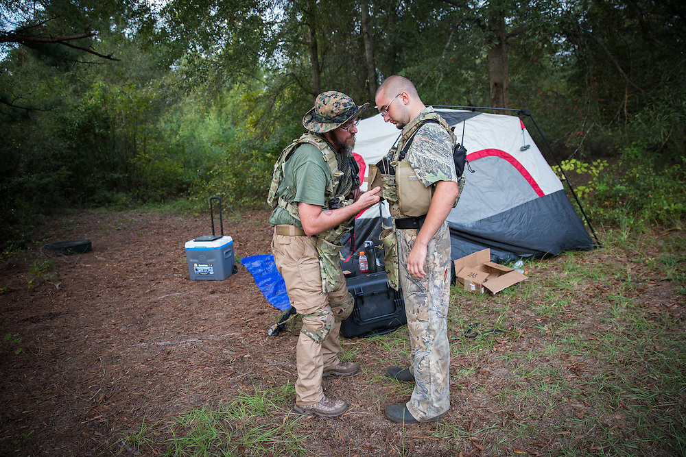 Field training exercises for Georgia Security Force III% militia, held on private property near Yatesville, Ga. on Saturday, Sept. 26, 2015.  Photo by Kevin D. Liles/kevindliles.com