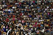 Ribeirao das Neves_MG, Brasil...Cineasta norte-americano David Lynch, em passagem no Brasil, que reuniu mais de 5000 criancas na Cidade dos Meninos Sao Vicente de Paula...The American cineaste David Lynch, visited to Brasil in Cidade dos Meninos Sao Vicente de Paula...Fotos: JOAO MARCOS ROSA / NITRO