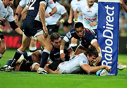 Ryan Kankowski (Sharks).scores the match winning try.Melbourne Rebels v The Sharks.Rugby Union - 2011 Super Rugby.AAMI Park, Melbourne VIC Australia.Friday, 11 March 2011.© Sport the library / Jeff Crow