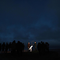 """Sky gazers gather on Ballinskelligs Beach as part of the Kerry International Dark Sky / Fáilte Ireland's first 'May the Fourth Be With You' festival in South Kerry at the weekend. Led by astronomers John Flannery and Steve Lynott of the Kerry Dark Skies Tourism group.<br /> Photo: Don MacMonagle<br /> <br /> pr photo photo<br /> Further info: lucy.cefai@failteireland.ie<br /> <br /> Press release:<br /> The Fourth Runs Strong in Kerry - Star Wars fans descend on Kerry for Fáilte Ireland's first 'May the Fourth Be With You' festival.<br /> Fáilte Ireland's first 'May the Fourth Be With You' festival wraps up today after three days of events across the Kerry villages of Ballyferriter, Portmagee, Ballinskelligs and Valentia Island. The festival kicked off on Friday, May the 4th (the day when fans across the globe commemorate the Star Wars Universe) and sought to capitalise on the enthusiasm for the galaxy far far way, firmly placing Ireland within that galaxy. The festival included a host of fun activities for all-ages, including visits to Slea Head's beehive huts (Luke Skywalker's hideaway of choice), guided film location walks and children's workshops.<br /> A highlight over the weekend was a special céilí for Star Wars fans which saw costumed dancers take the stage in a great meeting of traditional Irish culture and the Star Wars Universe. Fans also had the opportunity to enjoy outdoor drive-in movie screenings set against the breath-taking backdrop of the west Kerry coast, which featured in the latest movie installation.<br /> Fáilte Ireland captured the excitement in a video which will be used to build on the connection Ireland has with this iconic film universe after recent Star Wars filming took place along the Wild Atlantic Way.<br /> Speaking about the festival, Minister of State for Tourism and Sport, Brendan Griffin said:<br /> """"Since Star Wars included some of our iconic Irish landscapes along the Wild Atlantic Way in recent films, I have been keen to mark """
