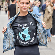 Pixie Geldof for  World Ocean Day - Project 0 Ambassadors unveil One Ocean One Planet on Carnaby Street, on 4 June 2019, London, UK.