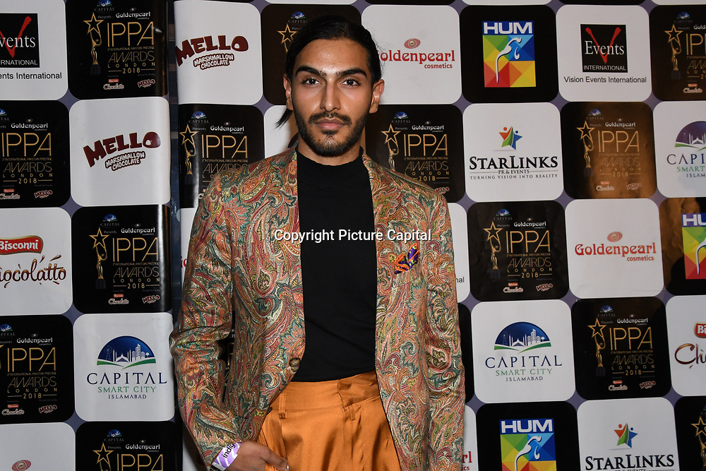 Dalston skincare clinic owner Rahi Chadda arrives at the Annual International Pakistan Prestige Awards (IPPA) at Indigo at The O2 on 9th September 2018, London, UK.