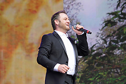 © Licensed to London News Pictures. 13/07/2014, UK. Mikey Graham. Boyzone, play British Summer Time at Hyde Park, London UK, 13 July 2014. Photo credit : Brett D. Cove/Piqtured/LNP