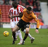 Photo: Mark Stephenson.<br />Stoke City v Wolverhampton Wanderers. Coca Cola Championship. 13/01/2007.<br />Wolves' Darren Potter on the ball.