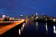 The Philadelphia sky line is seen from the South Street Bridge in Philadelphia, Pennsylvania on Wednesday, August 24th 2011. (Photo By Brian Garfinkel)