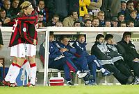 Fotball, 4. november 2003, Champions League,, Club Brugge ( Brügge )-Milan 0-1, En oppgitt Trond Sollied, trner for brugge