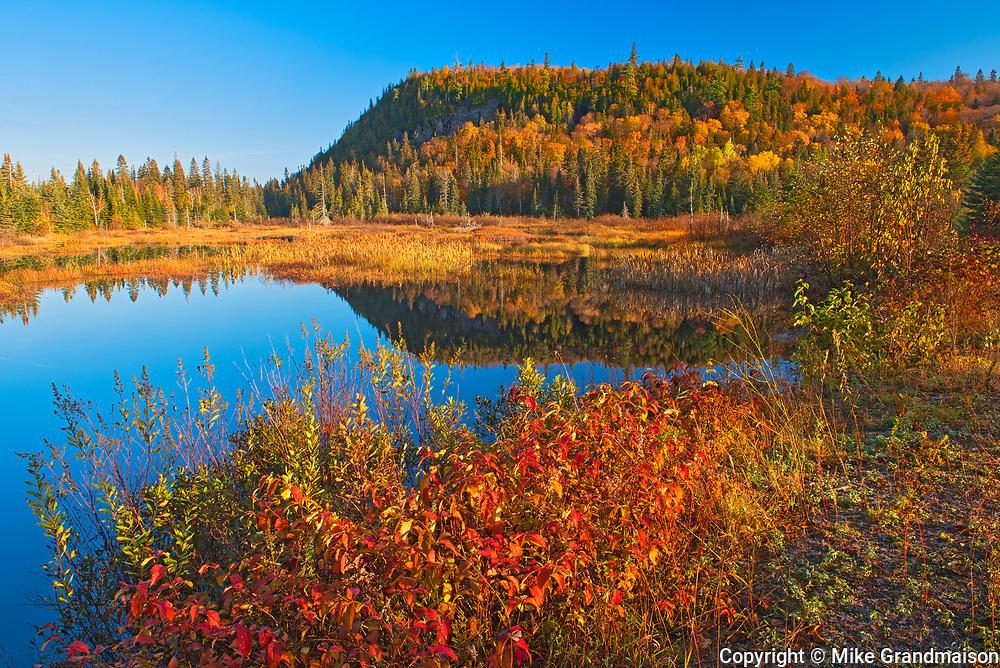 Unamed lake in autumn<br />Lake Superior Provincial Park<br />Ontario<br />Canada