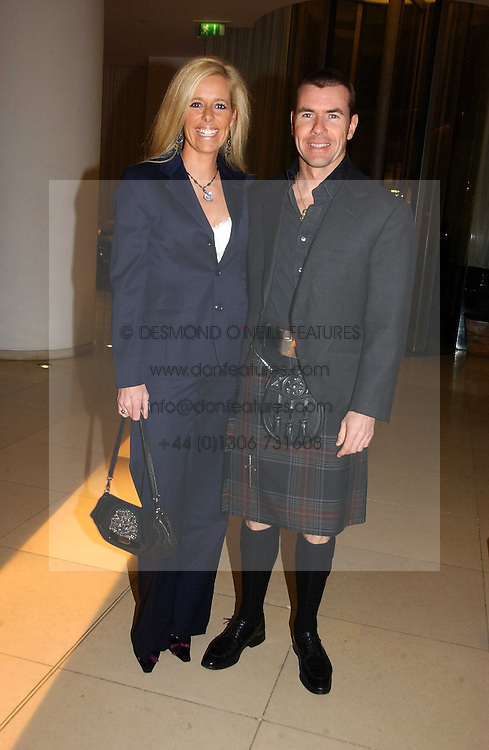 PAUL & VICTORIA STEWART at a Burns Night dinner in aid of CLIC Sargent and Children's Hospice Association Scotland held at St.Martin's Lane Hotel, St.Martin's Lane, London on 25th January 2007.<br /><br />NON EXCLUSIVE - WORLD RIGHTS