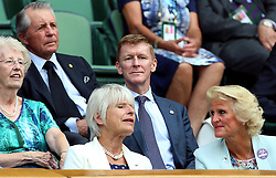 Tim Peake in the royal box on centre court on day eleven of the Wimbledon Championships at the All England Lawn Tennis and Croquet Club, Wimbledon.