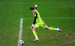 Sam Hornby of Bradford City takes a goal kick- Mandatory by-line: Nizaam Jones/JMP - 20/02/2021 - FOOTBALL - Jonny-Rocks Stadium - Cheltenham, England - Cheltenham Town v Bradford City - Sky Bet League Two