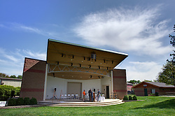 10 May 2014:   25th anniversary celebration of the Constitution Trail ceremony at Connie Link Amphitheater in Normal Illinois<br /> <br /> This image was created in part using High Dynamic Range (HDR) processing.  In editorial situations it should be described as an illustration.
