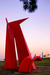 """Painted Steel Sculpture Titled """"Houston"""" by Artist Mac Whitney,Located in Stude Park"""
