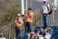 Van de Lageweg Wiepke, Van de Lageweg Ybe Wiebe, NED<br /> also in the picture : Ingmar Devos (President FEI)<br /> Olympic Games Rio 2016<br /> © Hippo Foto - Dirk Caremans<br /> 16/08/16