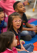 Students practice Mandarin during class at the Mandarin Immersion Magnet School, October 24, 2016.