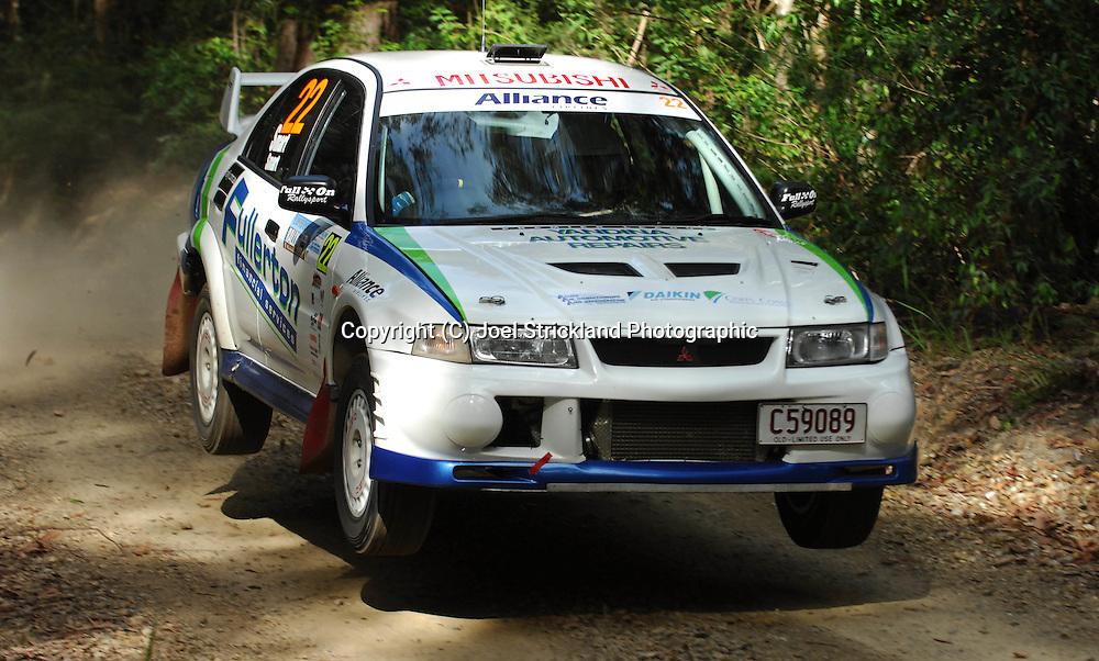 Ryan & Rebecca Smart.Motorsport-Rally/2008 Coffs Coast Rally.Heat 1.Coffs Harbour, NSW.15th of November 2008.(C) Joel Strickland Photographics
