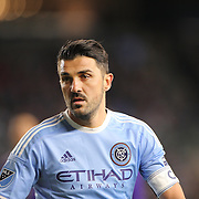 David Villa, NYCFC, during the New York City FC Vs Orlando City, MSL regular season football match at Yankee Stadium, The Bronx, New York,  USA. 18th March 2016. Photo Tim Clayton