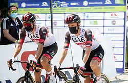 Rui Filipe OLIVEIRA of UAE TEAM EMIRATES, Rafal MAJKA of UAE TEAM EMIRATES during 1st Stage of 27th Tour of Slovenia 2021 cycling race between Ptuj and Rogaska Slatina (151,5 km), on June 9, 2021 in Slovenia. Photo by Vid Ponikvar / Sportida