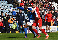 Jerome Binnom-Williams of Peterborough United holds off Jake Forster-Caskey of Charlton Athletic  - Mandatory by-line: Chantelle McDonald/JMP - 01/04/2017 - FOOTBALL - ABAX Stadium - Peterborough, England - Peterborough United v Charlton Athletic - Sky Bet League One
