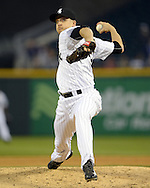 CHICAGO - APRIL 18:  Jake Petricka #52 of the Chicago White Sox pitches against the Los Angeles Angels of Anaheim on April 18, 2016 at U.S. Cellular Field in Chicago, Illinois.  The Angels defeated the White Sox 7-0.  (Photo by Ron Vesely)    Subject:  Jake Petricka