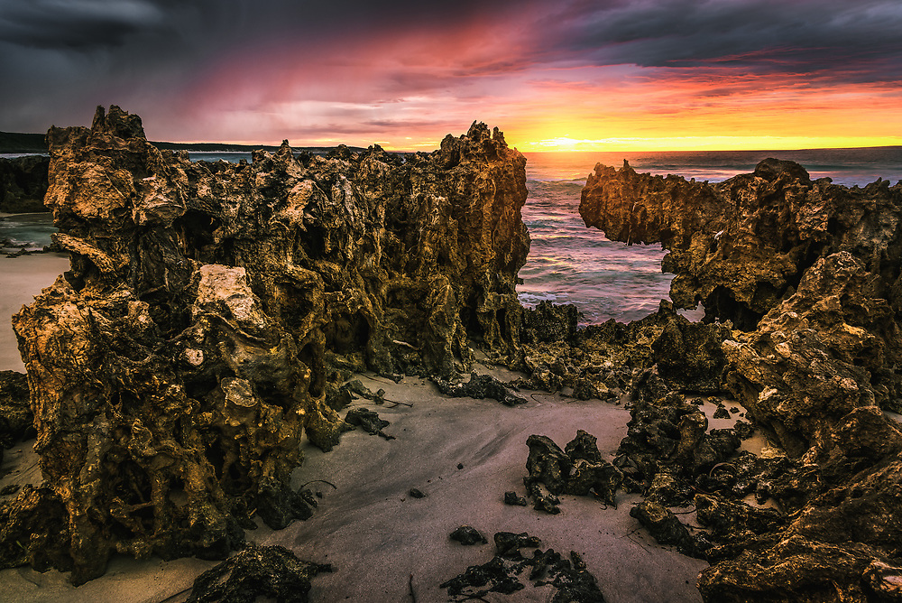 Sunrise at Quagi Beach in Western Australia