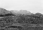 9707-K247. Indian cemetery, Unalaska. June 22-24, 1917 Alaska