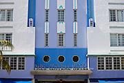 The Park Central Hotel South Beach, in Ocean Drive, South Beach, Miami, Floriday, USA