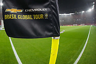 A general view of the Brazil Global Tour flag inside the Emirates Stadium during the Friendly International match between Brazil and Uruguay at the Emirates Stadium, London, England on 16 November 2018.