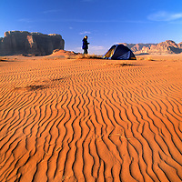 Lisa Gnade camped in the Wadi Rum. (MR)