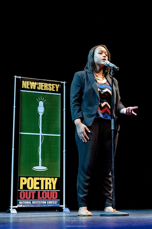 Arianna Diaz, a contestant in The  Poetry Out Loud, Regional 5,  competition at SOPAC.