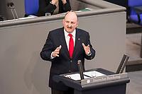 24 MAR 2017, BERLIN/GERMANY:<br /> Bernd Ruetzel, MdB, SPD, waehrend der Bundestagesdebatte zur Befristung von Arbeitsverträgen ohne Sachgrund, Plenum, Deutscher Bundestag<br /> IMAGE: 20170324-01-014<br /> KEYWORDS: Bernd Rützel