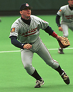 Cleveland Indian Jim Thome during game action against the Kansas City Royals at Kauffman Stadium in Kansas City, Missouri in 1993.