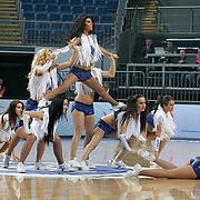 Efes Pilsen's show girls during their Turkish Basketball Legague Play-Off qualifying second match Efes Pilsen between Pinar Karsiyaka at the Sinan Erdem Arena in Istanbul Turkey on Friday 13 May 2011. Photo by TURKPIX