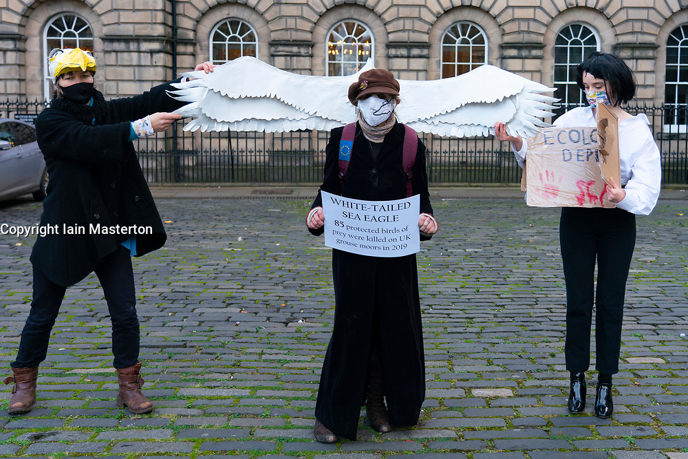 Extinction Rebellion demonstration highlighting wildlife species decline in Edinburgh, Scotland, UK