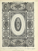 Design of an ornamental Ceiling for a staircase with an Elliptical skylight Copperplate engraving of From the Encyclopaedia Londinensis or, Universal dictionary of arts, sciences, and literature; Volume II;  Edited by Wilkes, John. Published in London in 1810