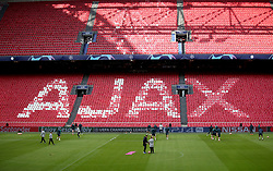 A general view of Tottenham Hotspur during a training session at The Ajax Stadium, Amsterdam.