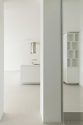 Architecture, new trend design, kitchen view from the passage
