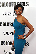 25 October 2010- New York, NY- Kimberly Elise at Tyler Perry's World Premiere of the Film 'For Colored Girls ' an Adaptation of Ntozake Shange's play ' For Colored Girls Who Have Considered Suicide When the Rainbow Is Enuf.' held at the Zeigfeld Theater on October 25, 2010 in New York City.