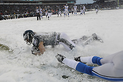 Philadelphia Eagles wide receiver Riley Cooper #14 catches the ball for a two point conversion during the NFL game between the Detroit Lions and the Philadelphia Eagles on Sunday, December 8th 2013 in Philadelphia. The Eagles won 34-20. (Photo by Brian Garfinkel)