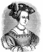 Anne Boleyn (c1504-1536) second wife of Henry VIII of England: mother of Elizabeth I: found guilty of high treason on grounds of adultery: charges almost certainly fabricated. Engraving c1880