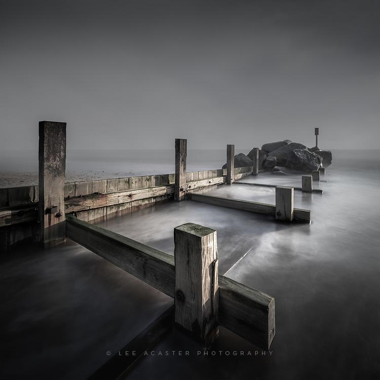 Sea defences at Winterton