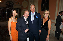 Left to right, SUSAN GILCHRIST, ANDREW ROBERTS, MARK THATCHER and SARAH CLEMENCE sister of Viscountess Rothermere at a party to celebrate the publication of 'A History of The English Speaking Peoples Since 1900' hosted by Andrew Roberts and Susan Gilchrist at the English-Speaking Union, 37 Charles Street, London W1 on 11th September 2006.<br /><br />NON EXCLUSIVE - WORLD RIGHTS