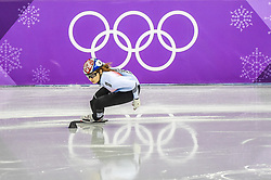 February 17, 2018 - Pyeongchang, Gangwon, South Korea - Choi Minjeong of  South Korea competing in 1500 meter speed skating for women at Gangneung Ice Arena, Gangneung, South Korea on 17 February 2018. (Credit Image: © Ulrik Pedersen/NurPhoto via ZUMA Press)