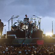 HYATTSVILLE, MD - June 20th, 2017 - The Edge, Bono, Larry Mullen Jr. and Adam Clayton of U2 perform at FedEx Field as part of the band's 30th anniversary tour of The Joshua Tree. (Photo by Kyle Gustafson / For The Washington Post)