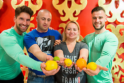 Ursa Dvorsak and Jure Kozjan at education session about healthy food and losing weight during fitness challenge with Jan Kovacic and Matic Kolenc by Resetworkout, on March 9, 2017 in  Divino Restaurant, BTC, Ljubljana, Slovenia. Photo by Vid Ponikvar / Sportida