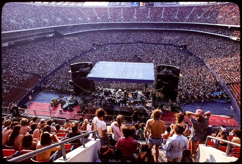 The Grateful Dead Live at Giants Stadium September 2, 1978. Long View from behind the Stage.