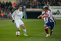 Atletico de Madrid's Griezmann and Real Madrid's Gareth Bale during 2014-15 Spanish King Cup match at Vicente Calderon stadium in Madrid, Spain. January 07, 2015. (ALTERPHOTOS/Luis Fernandez)